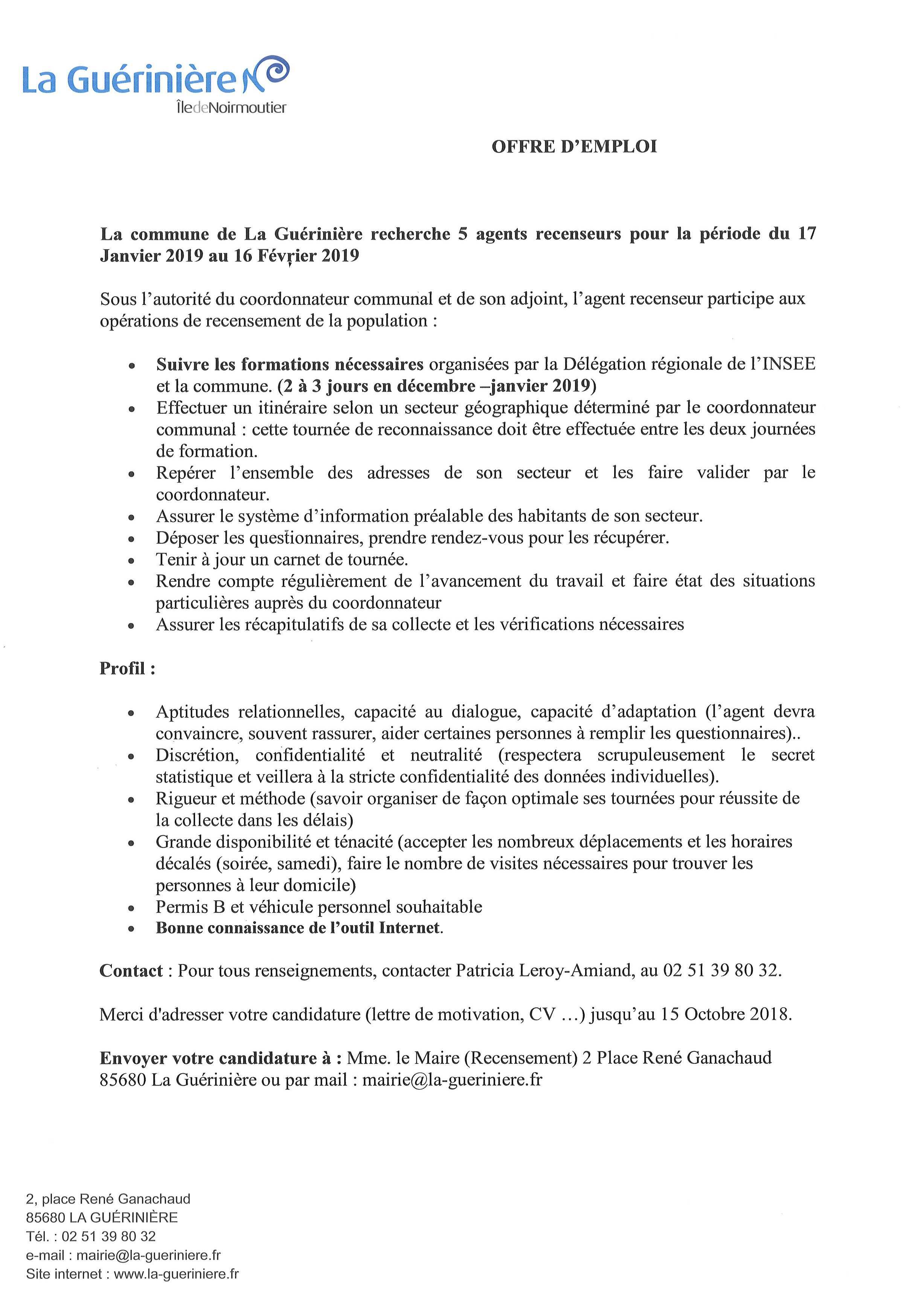 Mairie De La Guérinière Actualités